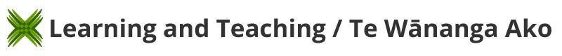 Learning and Teaching / Te Wānanga Ako SharePoint site.